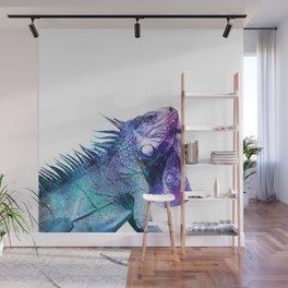 Galactic Iguana Wall Mural