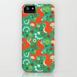 Nutty Squirrel Pattern iPhone Case
