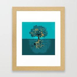 Digital Tree Framed Art Print