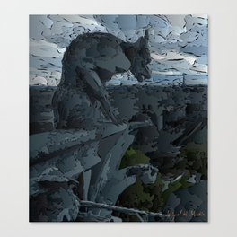 Watchman of hell Canvas Print