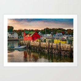 Motif #1 on Bradley Wharf - Rockport Harbor Massachusetts Art Print