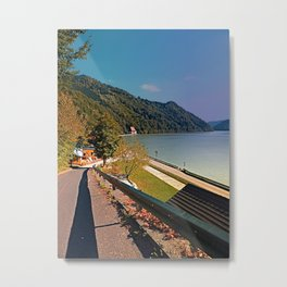 Road into Danube valley | waterscape photography Metal Print