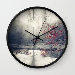 winter's rHapsody Wall Clock