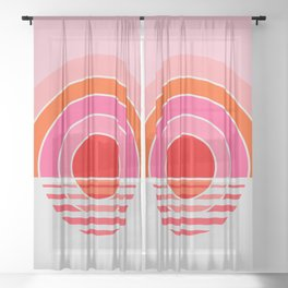 Rainbow sunset Sheer Curtain