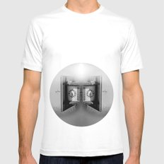 Blind man's time White MEDIUM Mens Fitted Tee