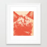 kitten Framed Art Prints featuring KITTEN by Allyson Johnson