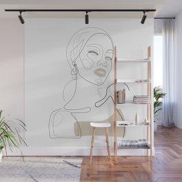 Lady In Beige Wall Mural