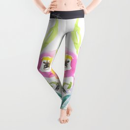 Floral Dance No. 4 by Kathy Morton Stanion Leggings