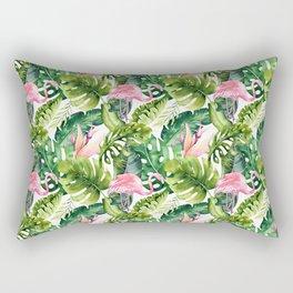 Flamingo Tropical    #pattern #tropical Rectangular Pillow