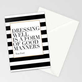 Dressing Well Is A Form Of Good Manners,Fashion Wall Art,Modern Decor,Modern Wall Art,Girls Room Dec Stationery Cards