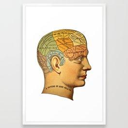 Phrenology   A Picture of Good Health circa 1881 Framed Art Print