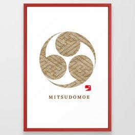 MITSUDOMOE Framed Art Print