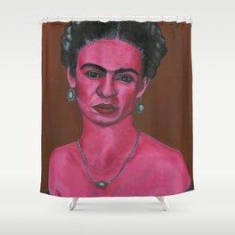 Pink Frida Shower Curtain