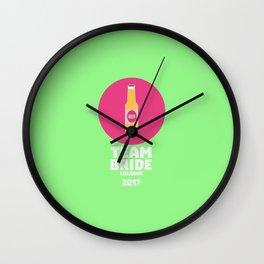 Team bride Cologne 2017 Henparty T-Shirt Dp14q Wall Clock