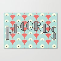 records Canvas Prints featuring Records by Ian Jett