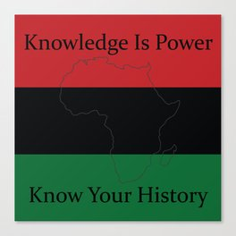 RBG/Pan-African Knowledge Is Power Canvas Print
