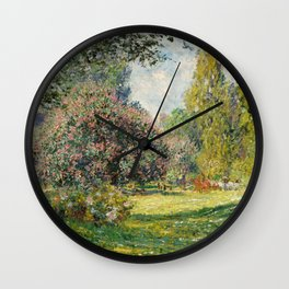 The Parc Monceau by Claude Monet Wall Clock