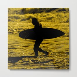 Surfer Silhouette  Metal Print