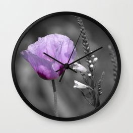 Poppy Color Wall Clock