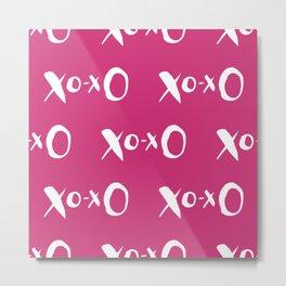 Kisses XOXO Violet Red Metal Print