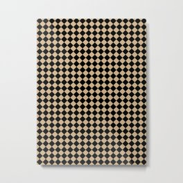 Black and Tan Brown Diamonds Metal Print