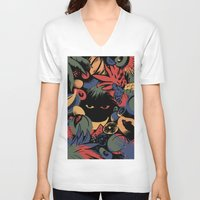 tropical V-neck T-shirts featuring TROPICAL by A\BESTIAL