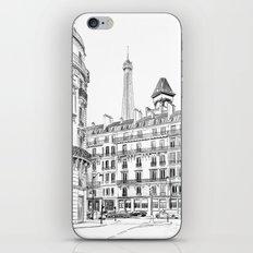 Parisian street - Architectural illustration iPhone & iPod Skin