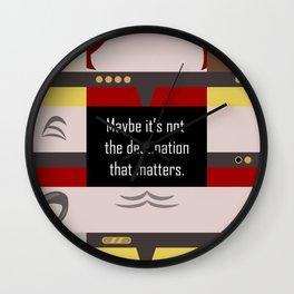 Maybe it's not the Destination that matters - Star Trek: Voyager VOY startrek trektangle minimalist Wall Clock