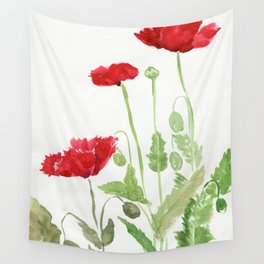Blooms and Buds Wall Tapestry