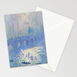 Claude Monet's Waterloo Bridge Stationery Cards