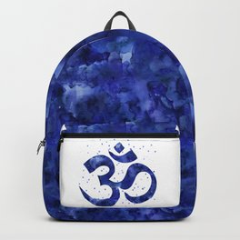 Ohm Symbol Blue Backpack