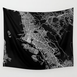 oakland map california Wall Tapestry