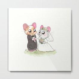 Wedding Hamsters l Metal Print