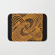 Art Nouveau Swirls in Orange and Black Bath Mat