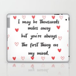 Long Distance Love Relationship Laptop & iPad Skin