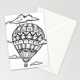 Vintage hot air balloon adventure t-shirt Stationery Cards