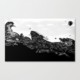 Namazu Japanese Cat Fish Canvas Print