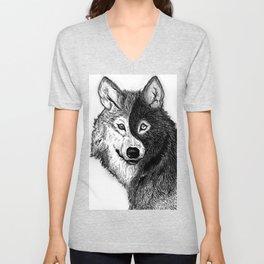 Ying Yang Wolf Unisex V-Neck
