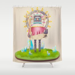 Kachina Solar Eclipse Shower Curtain