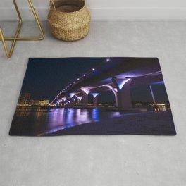 Lesner Bridge at Night Rug