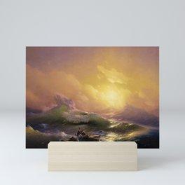 The Ninth Wave nautical sunset ocean storm landscape masterpiece by Ivan Aivazovsky Mini Art Print