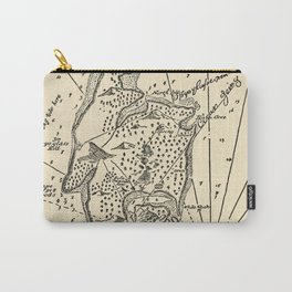 Vintage Treasure Island Pirate Map (1915) Carry-All Pouch