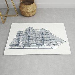 Big Sailing Ship Rug