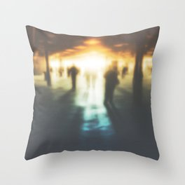 Walk in the Ghost City Throw Pillow