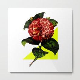 Vintage Bloom /Neon Wedge Metal Print