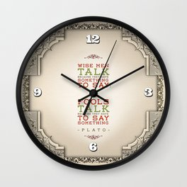 Plato regarding talking Wall Clock