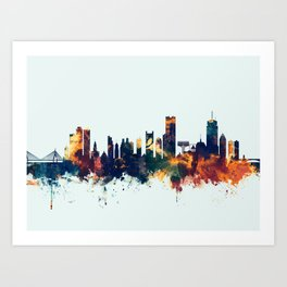 Boston Massachusetts Skyline Art Print