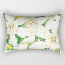 Garden of Gardenias Rectangular Pillow