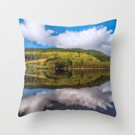 Geirionydd Lake Reflections Throw Pillow