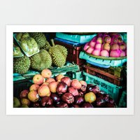 thailand Art Prints featuring thailand by nosoulrobot